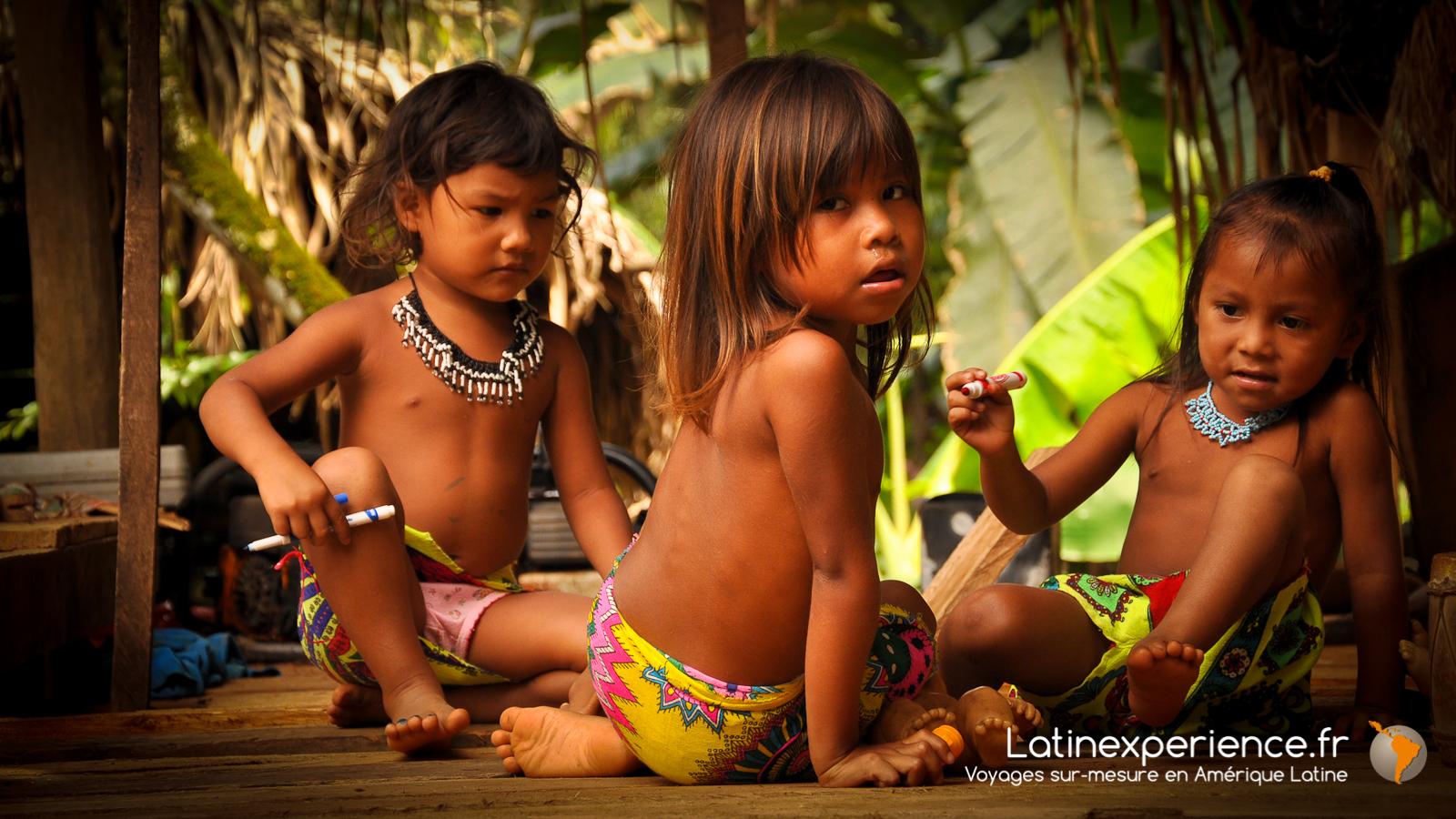 Panama - enfants Embéra - Latinexperience voyages