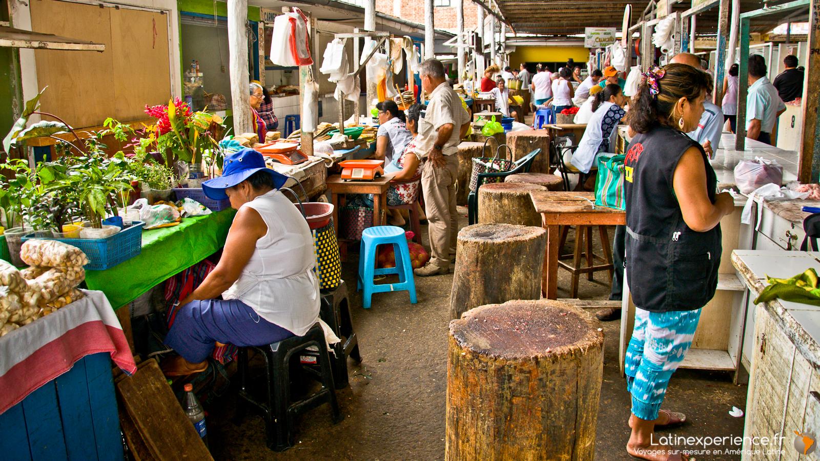 séjour au Pérou - Marché de Tarapoto - Latinexperience voyage
