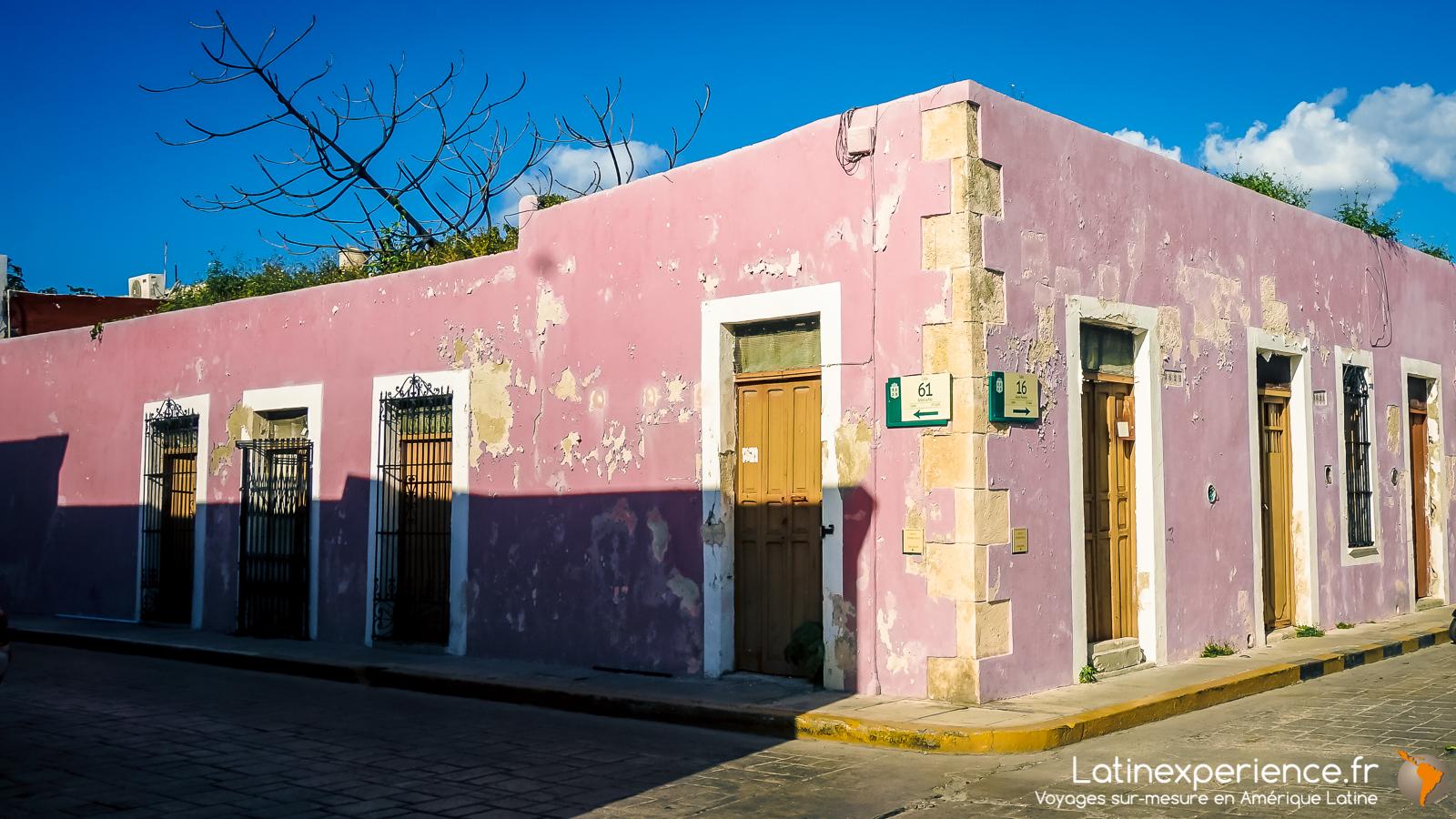 Mexique - Yucatan - maison coloré - Campeche - Latinexperience voyages