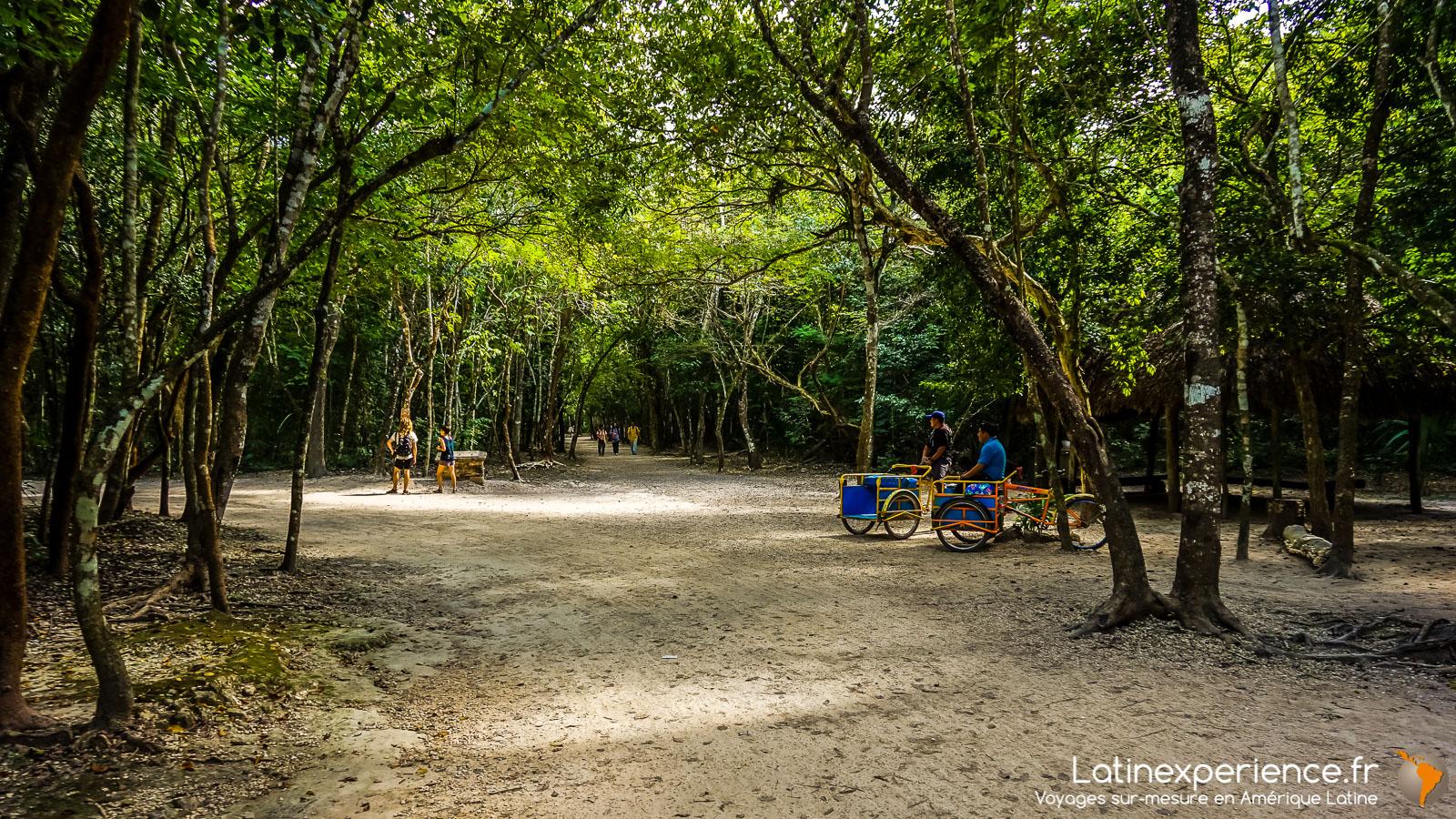 Mexique - entrée du site de Koba - Latinexperience voyages