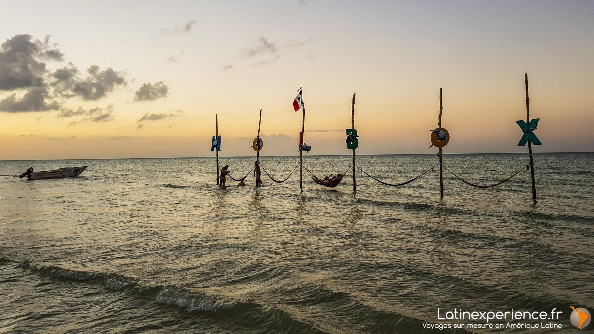 Séjour Mexique - Holbox - Hamacs dans l'eau - Latinexperience voyages